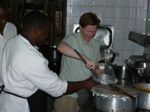"Learning to make ""ugali"" during my research trip to Tanzania for GOLDEN BOY."