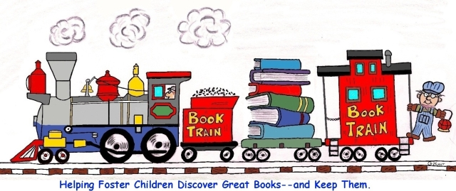 """Kids in care rarely have books of their own."" -LMHBook Train is working to undo that."