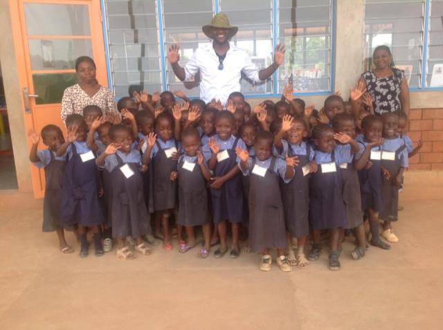 Arthur Katalayi, visting the Georges Malaika Foundation in Lubumbashi