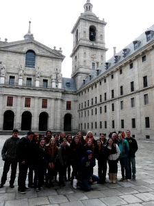 The Burlington kids enjoying a trip to El Escorial.
