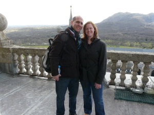 On the top of El Escorial.